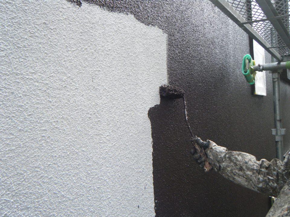 外壁の塗装の様子