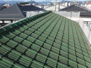 既存の屋根材の写真