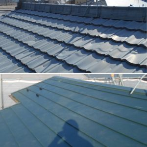 屋根ふき替え