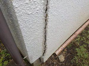 外壁モルタル壁・クラック、塗膜劣化
