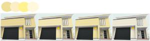 クリーム色の外壁シミュレーション