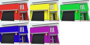 外壁塗装のカラーシミュレーションの画像